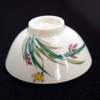 Floral Themed Porcelain Cup